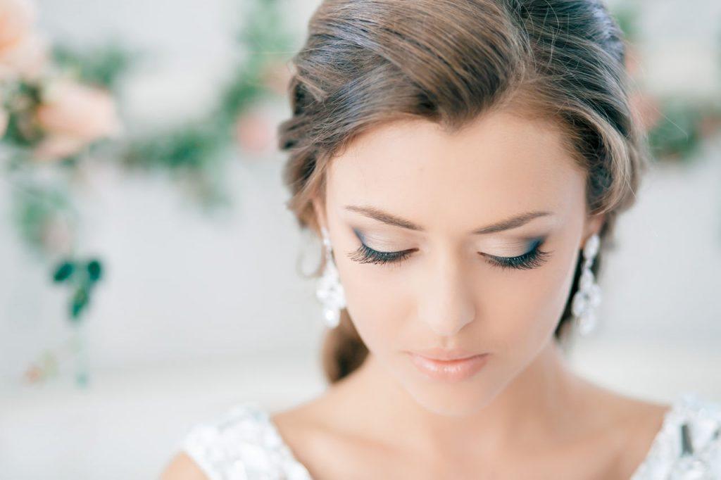 Maquillaje para novias con extensiones de pestañas